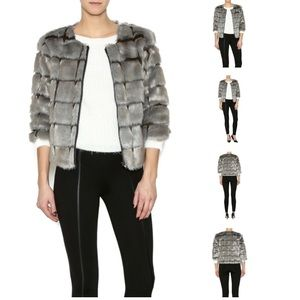 New without tags Faux Fur Jacket, Size Small